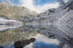 Beautiful autumn landscape, Altai mountains Russia. Royalty Free Stock Photo