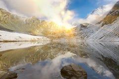 Beautiful autumn landscape, Altai mountains Russia. Royalty Free Stock Image