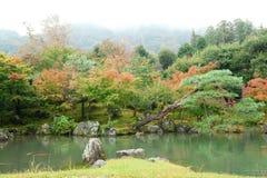 Beautiful autumn landscape of Arashiyama, Japan. Beautiful autumn landscape of Arashiyama, Kyoto, Japan. Photo taken at foggy day Stock Images