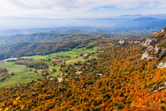 Beautiful autumn landscape in  Catalonia Stock Photo