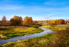 Beautiful autumn landscape, forest and river. Beautiful autumn landscape, with forest and river Royalty Free Stock Image