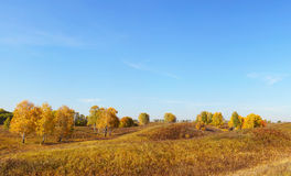 Beautiful autumn landscape in the hills Royalty Free Stock Photos