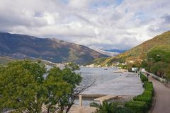 Beautiful autumn landscape. Montenegro, Tivat, Seljanovo village Stock Photos