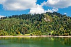 Beautiful autumn landscape, mountain lake, Poland, Tatry. Beautiful autumn landscape, mountain lake royalty free stock image