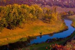 Beautiful autumn landscape in Republic of Moldova. Autumn nature. Colored trees. stock photos