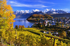 Beautiful autumn landscape in Switzerland Royalty Free Stock Photos