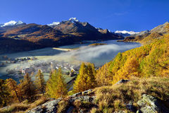 Beautiful autumn landscape in Switzerland Royalty Free Stock Photography