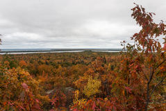 Beautiful autumn landscape, Thomas Rock, Marquette County, Michigan Royalty Free Stock Photography