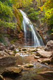 Beautiful autumn landscape with waterfall Royalty Free Stock Images