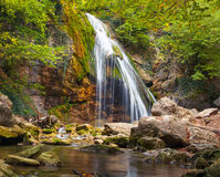 Beautiful autumn landscape with waterfall Royalty Free Stock Photography