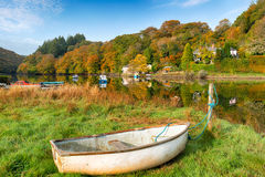 Beautiful Autumn Morning at Lerryn Royalty Free Stock Photography