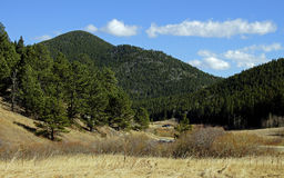 Beautiful autumn mountain landscape in Colorado royalty free stock photography