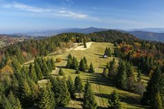 Beautiful autumn mountain landscape Royalty Free Stock Images