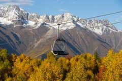 Beautiful autumn mountain landscape in Svaneti. Georgia Royalty Free Stock Images