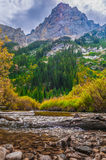 Beautiful Autumn near Cascade Creek - Grand Teton National Park Stock Photo