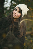 Beautiful autumn portrait of an elegant woman Stock Photography