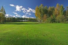 Beautiful autumn scenery. On sunny day Stock Photos