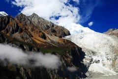 Beautiful autumn scenery in Hailuogou glaciers park Stock Photo