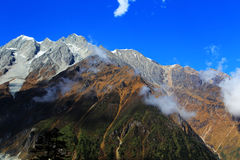 Beautiful autumn scenery in Hailuogou glaciers park Royalty Free Stock Images