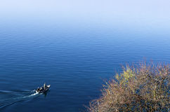 Beautiful autumn scenery in lake Ohrid Stock Photos