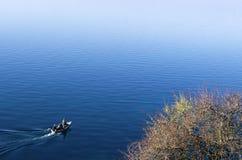 Beautiful autumn scenery in lake Ohrid Stock Photos