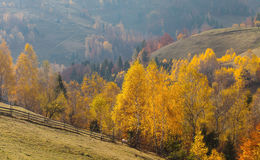 Beautiful autumn scenery in a remote mountain location Stock Photos