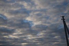 Beautiful autumn sky stock photography