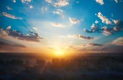 Beautiful autumn sunset Stock Photos