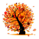 Beautiful autumn tree for your design royalty free illustration