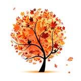 Beautiful autumn tree for your design Stock Photos