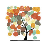 Beautiful autumn tree for your design Royalty Free Stock Images