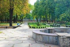 Beautiful autumn trees in city park Stock Image