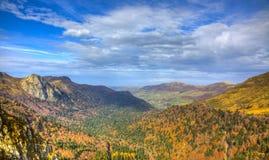 Beautiful Autumn Valley Stock Photography