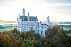 Beautiful autumn view of the Neuschwanstein castle, Germany Royalty Free Stock Photography