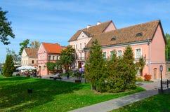 Beautiful autumn view of Trinity Suburb, Minsk, Belarus Royalty Free Stock Photos
