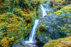Beautiful autumn waterfall in deep forest in Chiang Mai, Thailand Royalty Free Stock Image