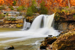 Beautiful Autumn Waterfall Stock Images