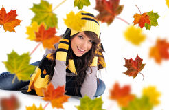 Beautiful  autumn woman. Stock Photo