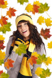 Beautiful  autumn woman. Royalty Free Stock Image