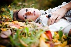 Beautiful autumn woman Royalty Free Stock Photography