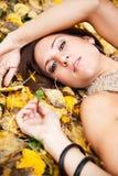 Beautiful autumn woman Stock Photography