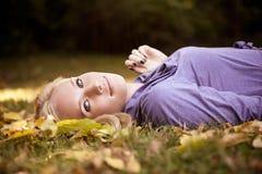 Beautiful autumn woman Royalty Free Stock Photos