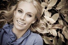 Beautiful autumn woman Stock Photos
