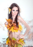 Beautiful Autumn woman Stock Photo