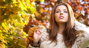 Beautiful autumn woman Royalty Free Stock Photos