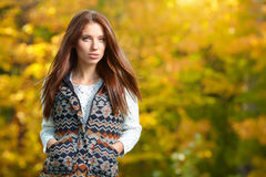 Beautiful autumn woman Stock Image