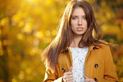 Beautiful autumn woman Royalty Free Stock Photo