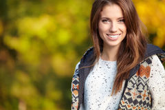 Beautiful autumn woman Stock Photo
