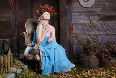 Beautiful autumn woman Royalty Free Stock Images