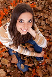 Beautiful autumn woman posing Royalty Free Stock Photo